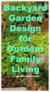 Backyard Garden Design for Outdoor family living