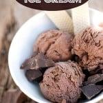 Easy Dark Chocolate Ice Cream