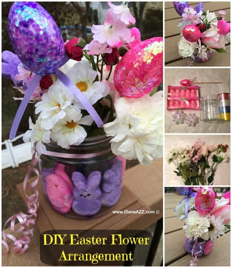 Easter Arrangement Ideas: DIY Easter Flower Arrangement