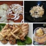 Grilled Chicken with Onions and Clamshell Mushrooms #MushroomMakeover