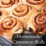 Homemade Cinnamon Rolls Recipe
