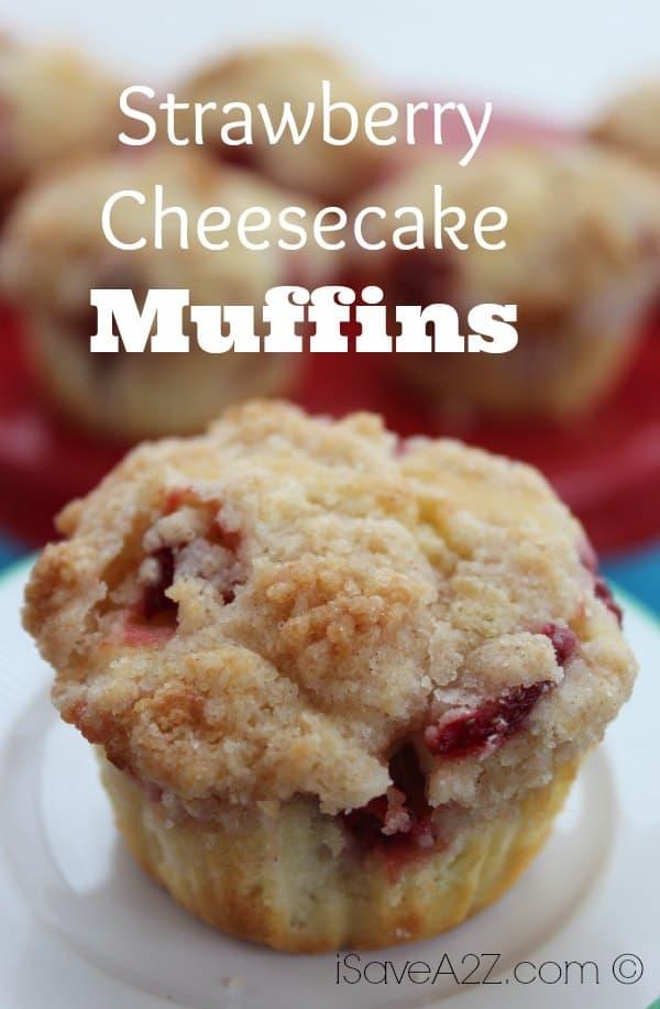 Muffin Strawberry Strawberry Cheesecake Muffins