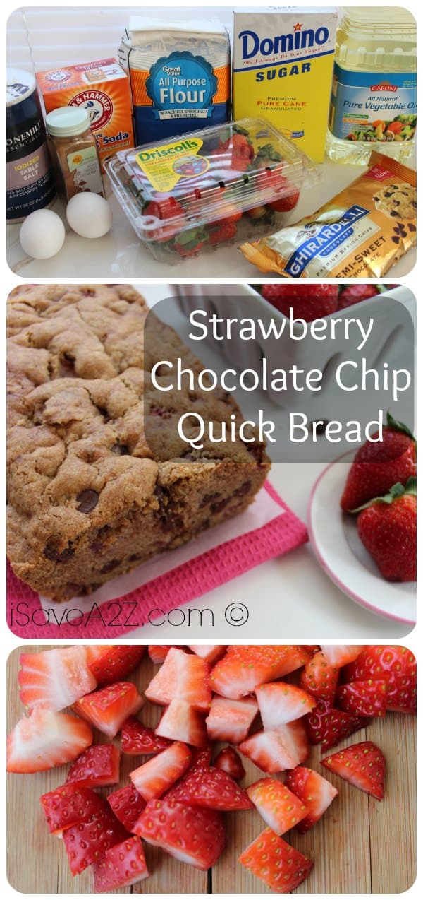 Strawberry Chocolate Chip Quick Bread