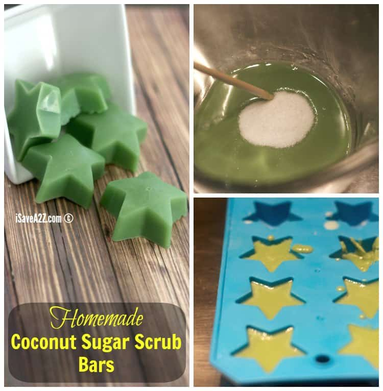 Easy Homemade Coconut Sugar Scrub Bars