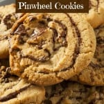 Chocolate Chip Peanut Butter Pinwheel Cookies