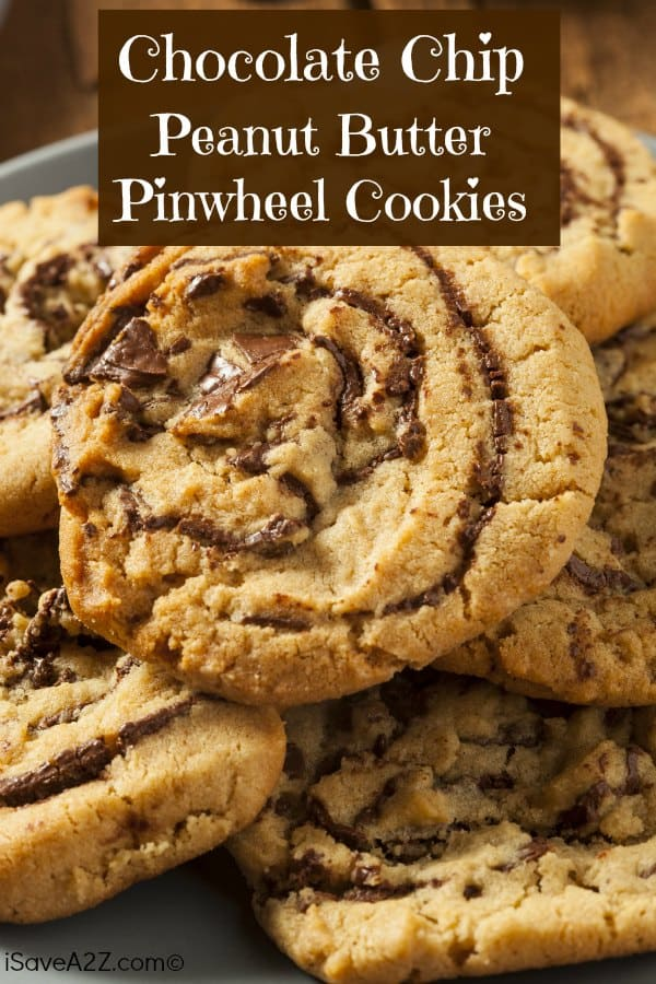 Chocolate Chip Peanut Butter Pinwheel Cookies!