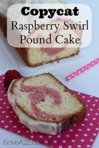 Copycat Raspberry Swirl Pound Cake