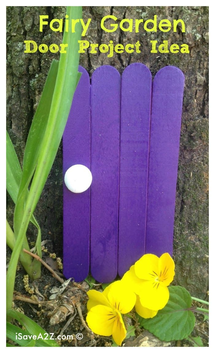 Fairy garden decorations fairy door craft idea for Craft ideas for fairy gardens