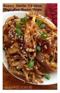Honey Garlic Chicken Recipe made in my Ninja Slow Cooker