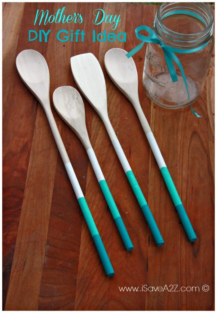 Painted Wooden Spoons Gift Idea - iSaveA2Z.com
