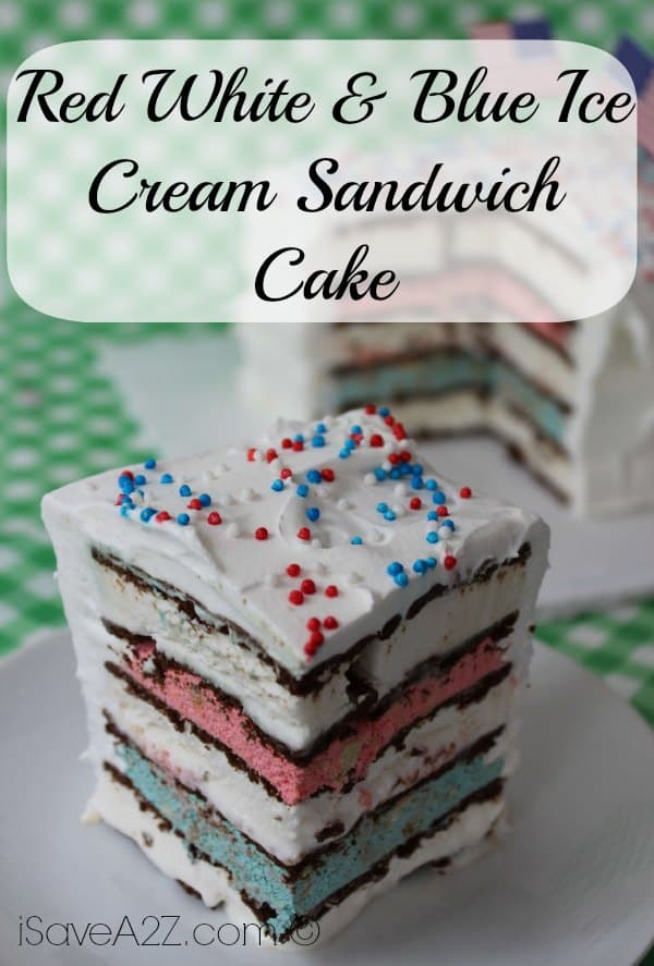 Red White Amp Blue Ice Cream Sandwich Cake Isavea2z Com