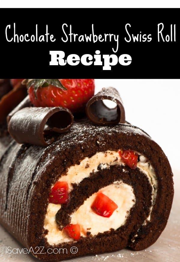 Chocolate Strawberry Swiss Roll Isavea2z Com