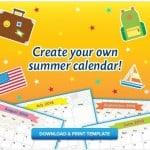 FREE Printable Kid's Summer Calendar
