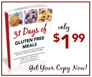 31 Days of Gluten Free Meal Ideas e-cookbook