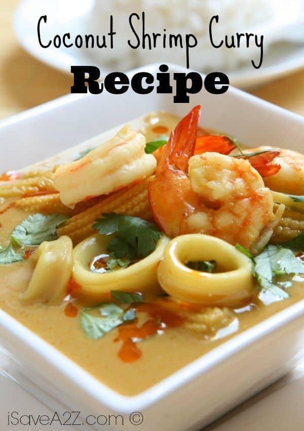 Coconut Shrimp Curry - iSaveA2Z.com