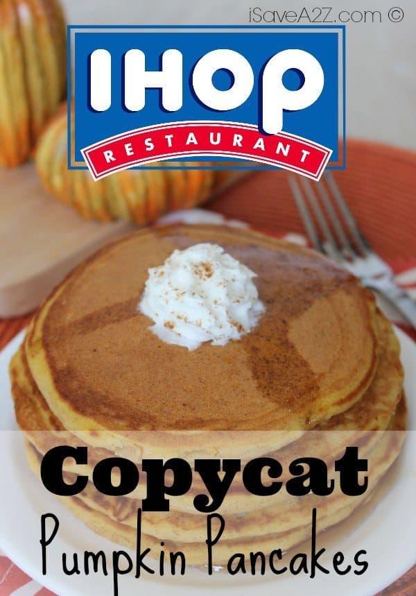 Copycat IHOP Pumpkin Pancakes iSaveA2Zcom