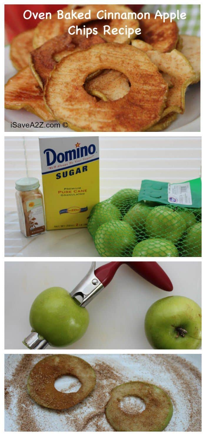 Healthy Snacks: Baked Apple Chips Recipe - EASY to make!