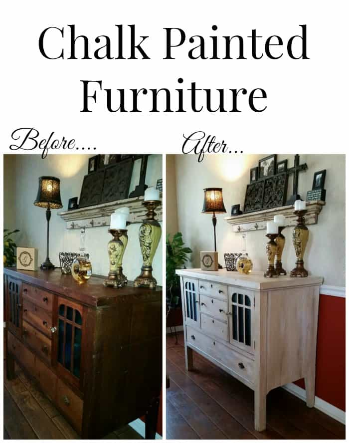 Chalk Painted Furniture Using Homemade Paint