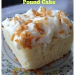 Coconut Cream Cheese Pound Cake Recipe with frosting