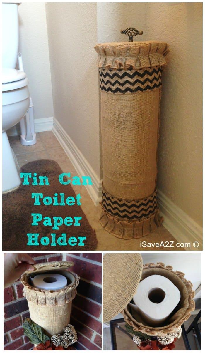 Tin Can Toilet Paper Holder - iSaveA2Z.com