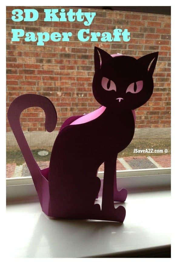 3d Kitty Paper Craft Isavea2z Com
