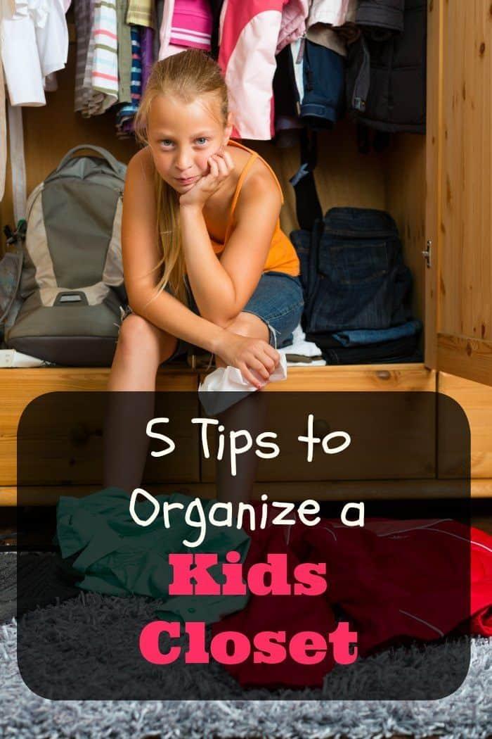 5 Tips to Organize a Kids Closet