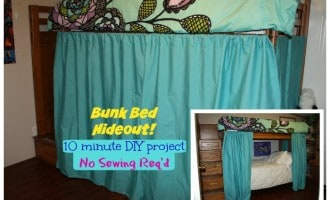 Bund Bed Hideout No Sewing Project idea