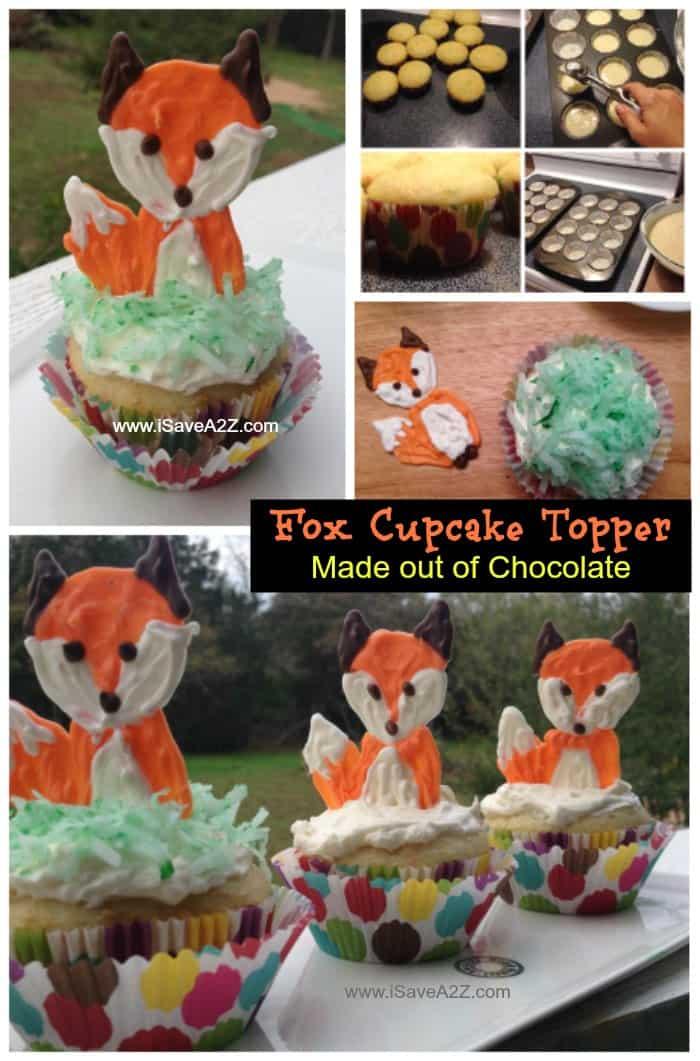 Chocolate Fox Cupcake Toppers - iSaveA2Z.com
