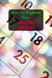 How to Organize Your Seasonal Schedules