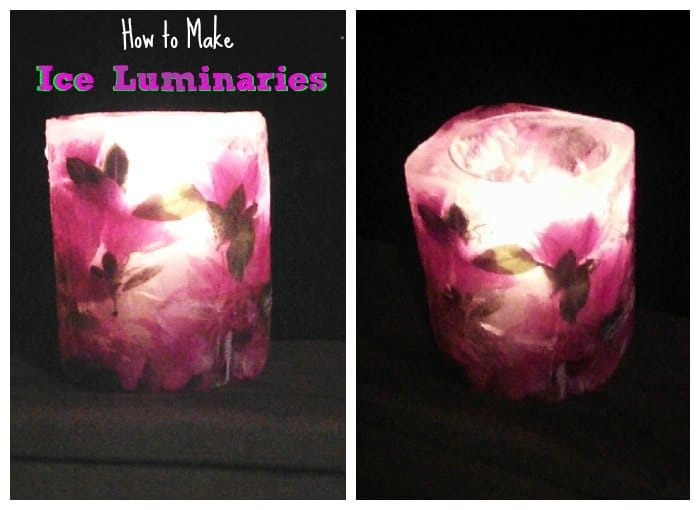 do it yourself holiday ice luminaries. Black Bedroom Furniture Sets. Home Design Ideas