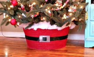 DIY Washtub Tree Skirt