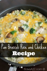 Pan Broccoli Rice and Chicken