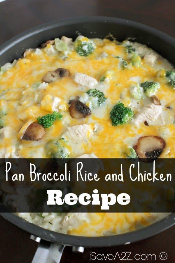 Pan Broccoli Rice and Chicken - iSaveA2Z.com