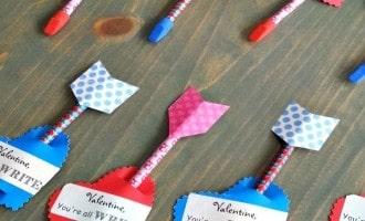 Easy Valentine Arrow Pencils