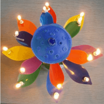 The Amazing Happy Birthday candle that blooms