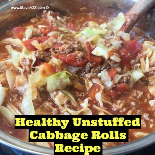 Healthy Unstuffed Cabbage Rolls Recipe