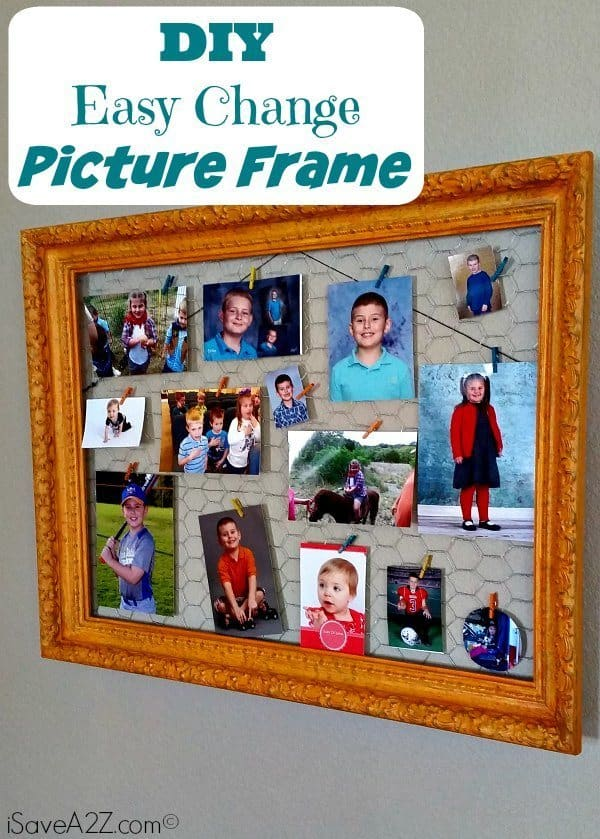 DIY Easy Change Picture Frame! Cute and Easy!