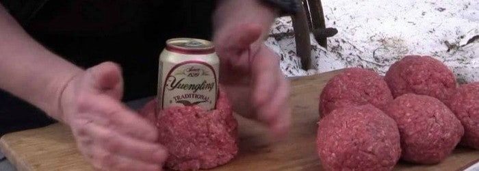 Beer Can Bacon Burgers – No Way You Watch This Without Salivating