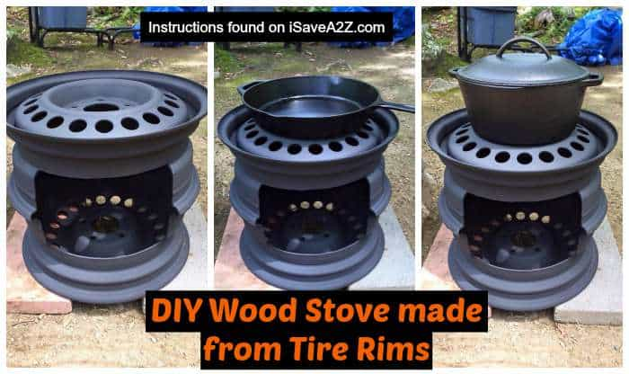 DIY Wood Stove Made From Tire Rims ISaveA2Zcom