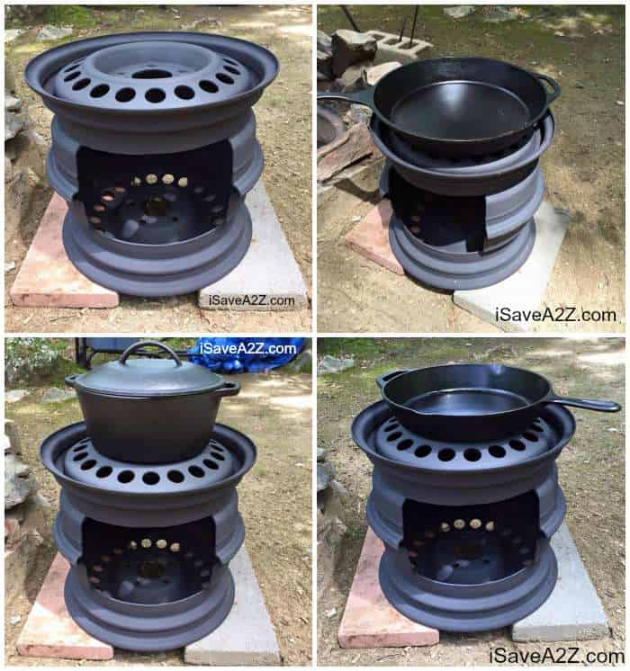 DIY Wood Stove made from Tire Rims - DIY Wood Stove Made From Tire Rims - ISaveA2Z.com