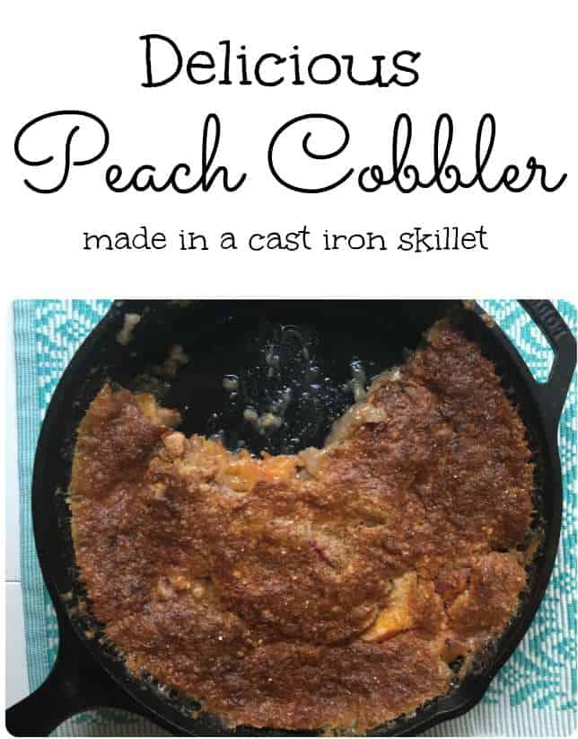 Easy peach cobbler recipe made in a cast iron skillet isavea2z easy peach cobbler made in a cast iron skillet forumfinder Image collections