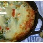Skillet Chicken Alfredo Pizza