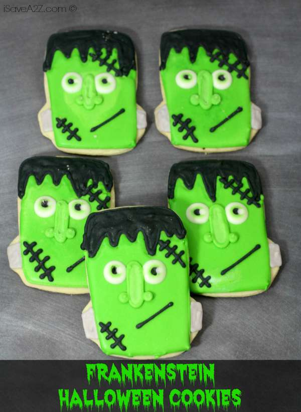 Frankenstein Halloween Cookies