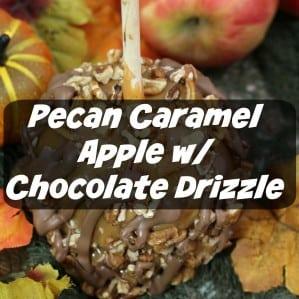 Pecan Caramel Apple with Chocolate Drizzle - iSaveA2Z.com
