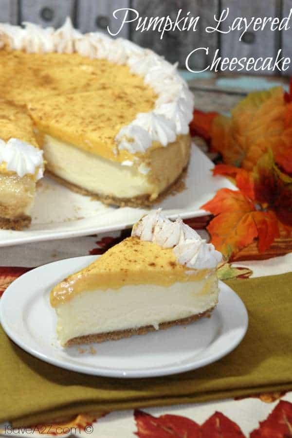 Pumpkin Layered Cheesecake
