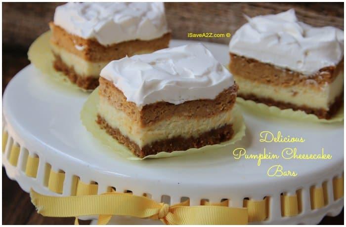 Easy Pumpkin Cheesecake Bars Recipe With Graham Cracker