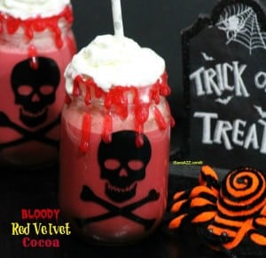 Bloody Red Velvet Cocoa Halloween Drink Idea