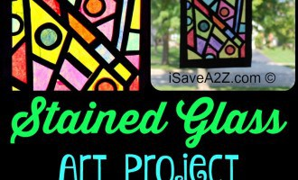 Paper Craft Idea:  How to Make your stained glass window
