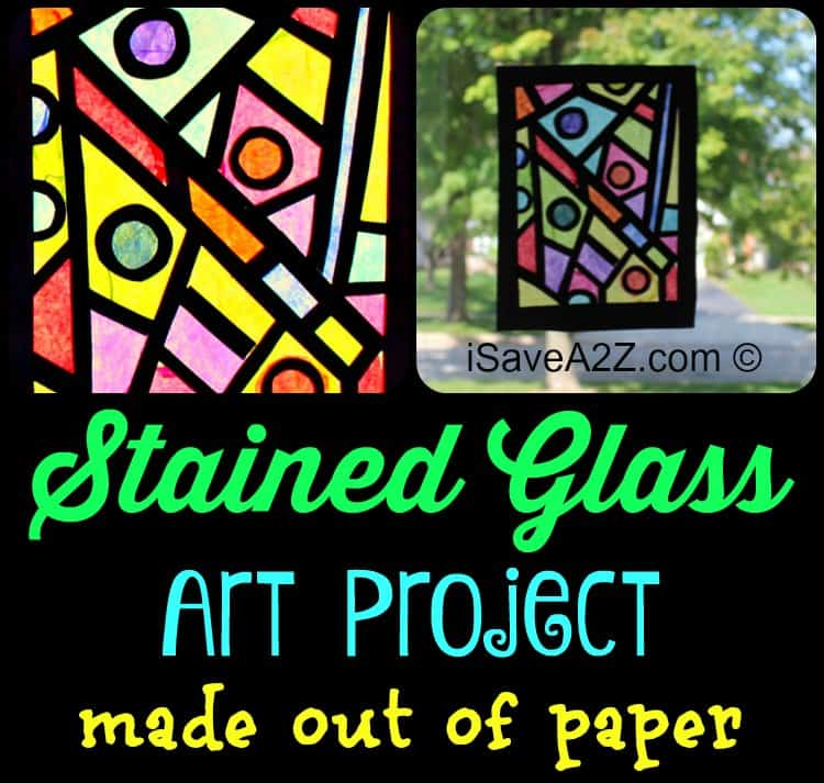 Paper Craft Idea: How to Make your stained glass window - iSaveA2Z.com
