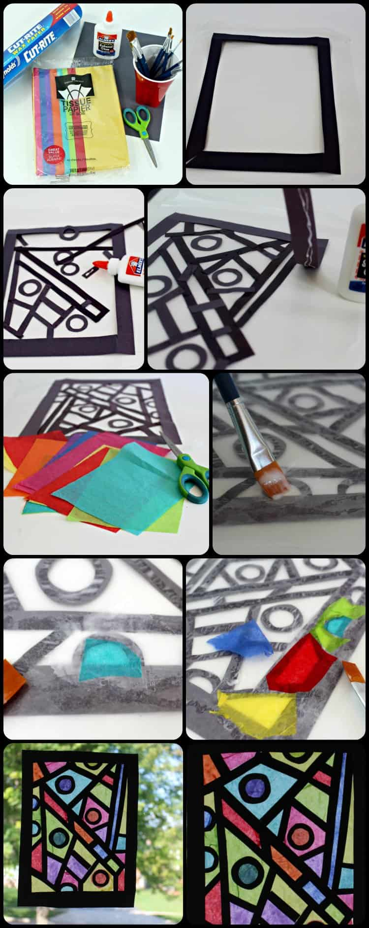 Stained Glass Window Art : Paper craft idea how to make your stained glass window